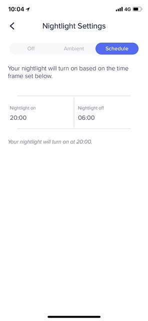eero iOS App - Settings - Nightlight - Schedule