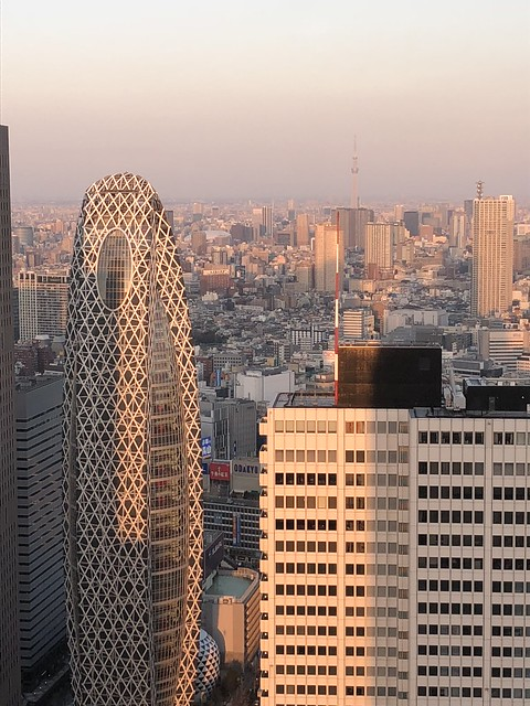 Funky shaped building in Tokyo