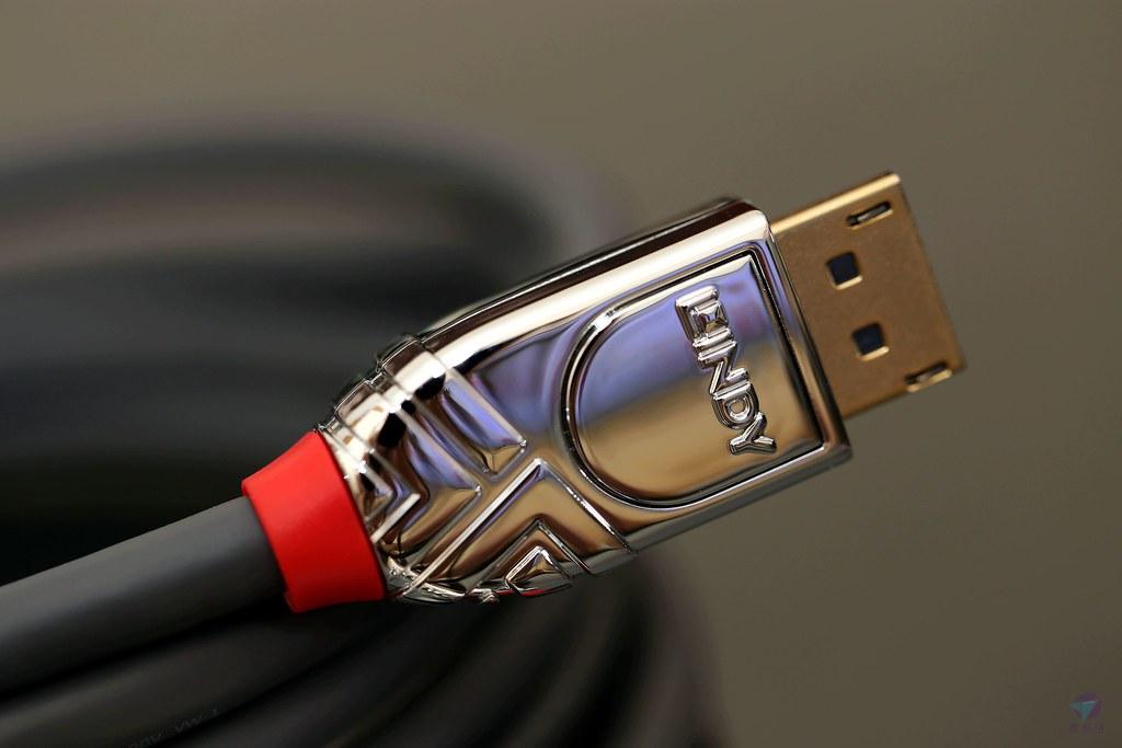 DisplayPort線材推薦開箱DP線評價評測 德國影音線材週邊品牌LINDY CROMO DisplayPort 1.4 林帝新規格 兼談線材品質差異[真開箱]