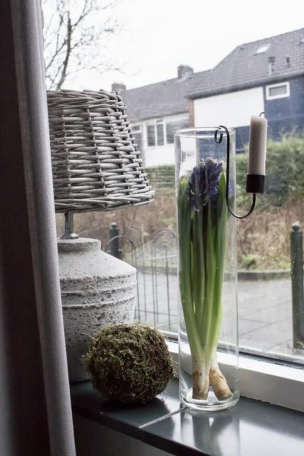 Kruiklamp vensterbank landelijke stijl