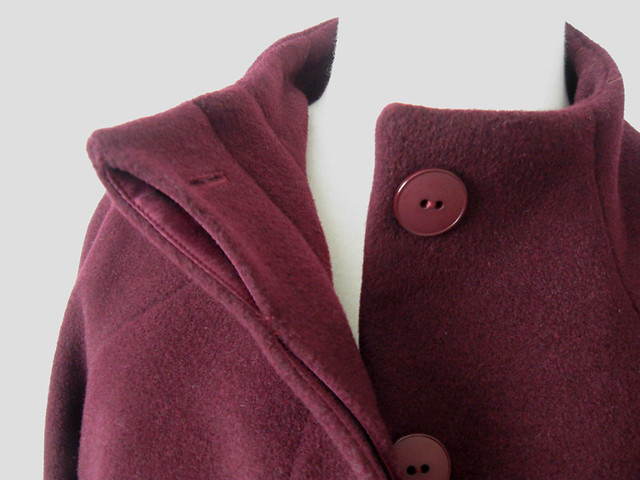 H coat close up placket view