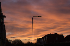 Sunrise over Drapers Lane, Hedon.