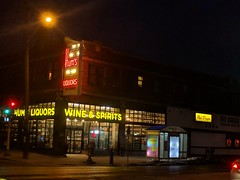 The newly gentrified Hum's Liquors