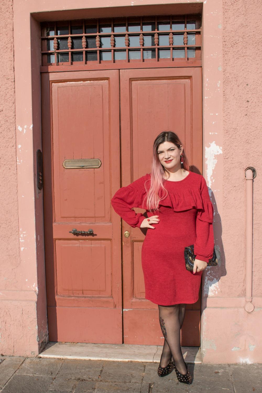 Outfit plus size per san valentino, rosso e nero (3)