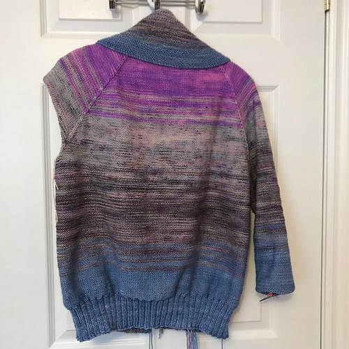 Sue2Knits Comfort Fade Cardi - February 23, 2018 - Back