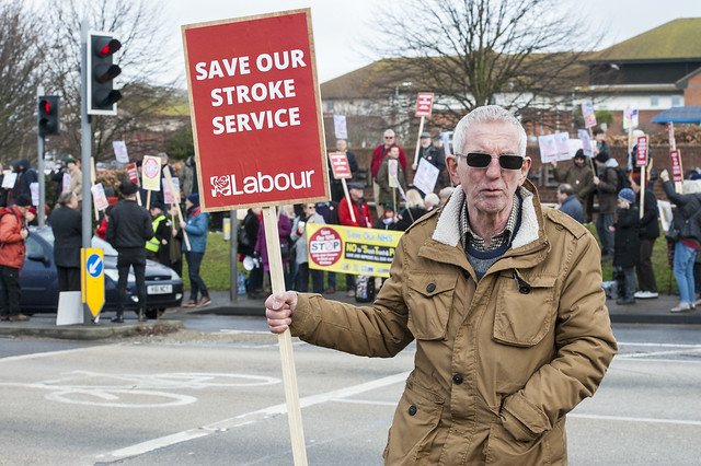 Save Our Stroke Service Demo, Margate, 03.02.18