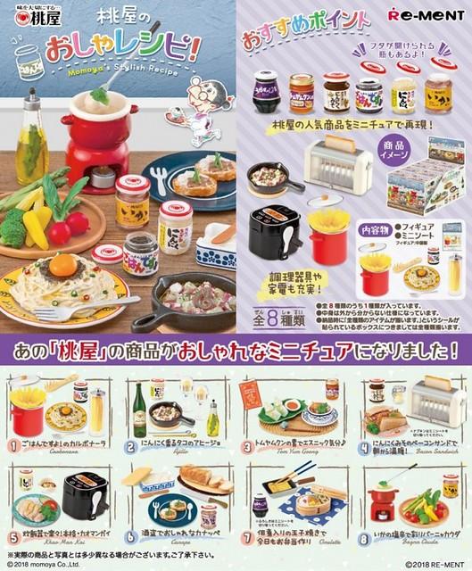 RE-MENT 袖珍盒玩系列 老字號「桃屋的美味食譜」盒玩登場!桃屋のおしゃレシピ