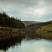 A cloudy evening at Lower Ogden Reservoir/Pendle Hill