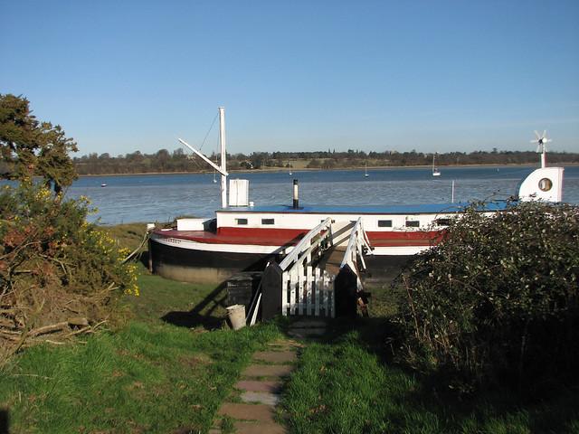 The River Orwell at Chelmondiston