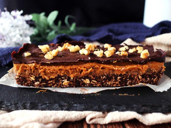 巧克力香料南瓜焦糖條 Chocolate Spiced Pumpkin Caramel Bars (7)