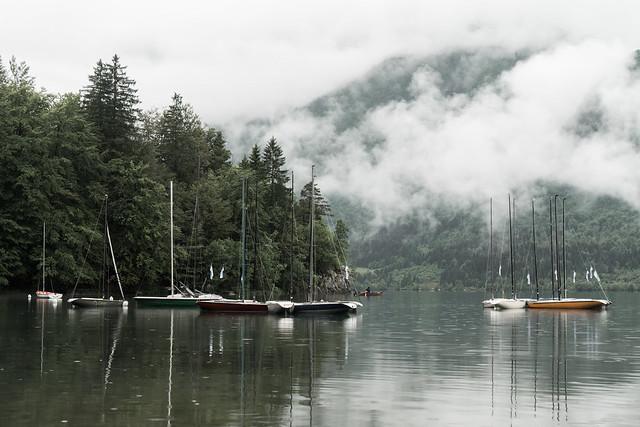 Sailboats - Lake Bohinj - Slovenia