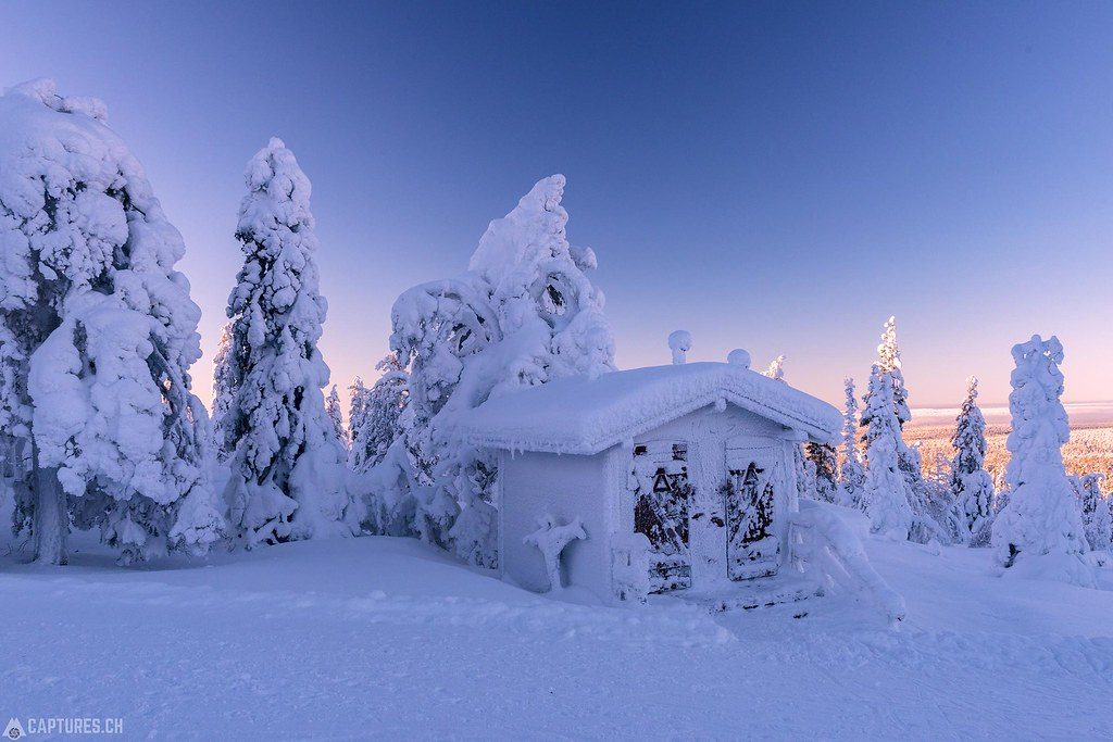 Frozen toilet - Lapland