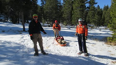 Winter snowshoe and litter training
