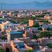 Cityscape At Dusk, Meybod, Yazd Province, Iran
