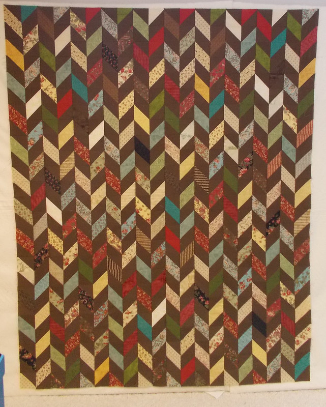 HST quilt top by Sandi Walton at Piecemeal Quilts
