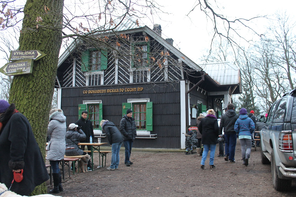 The small pub on top of Říp.