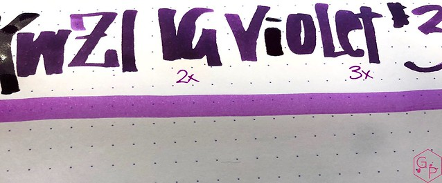 Ink Shot Review KWZI IG Violet #3 @BureauDirect 4
