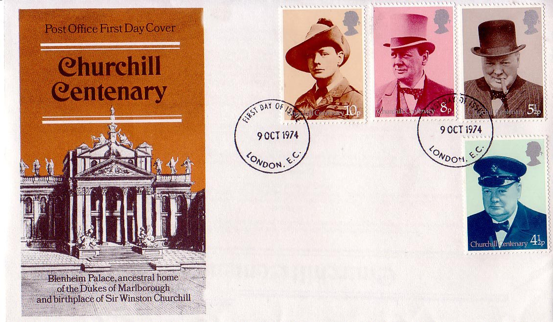 Great Britain - Scott #728-731 (1974): first day cover