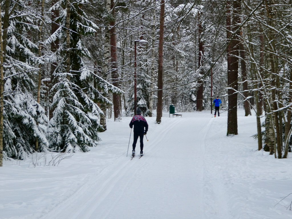 Cross country skiing in Tampere