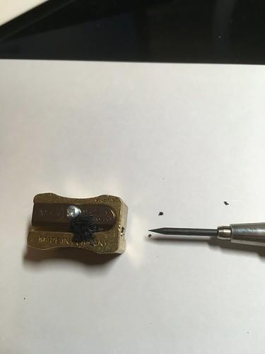 Caran D'Ache Pencil Peeler and Mobius + Ruppert 2.0 mm brass lead pointer