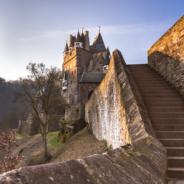 Stairs to Castle Eltz