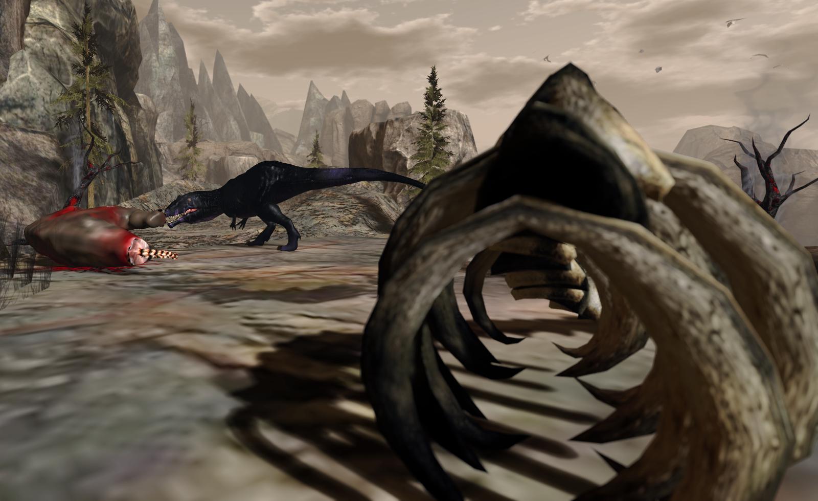 A hungry Gigantosaurus