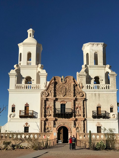 Tucson San Xavier del Bac Mission front elevation
