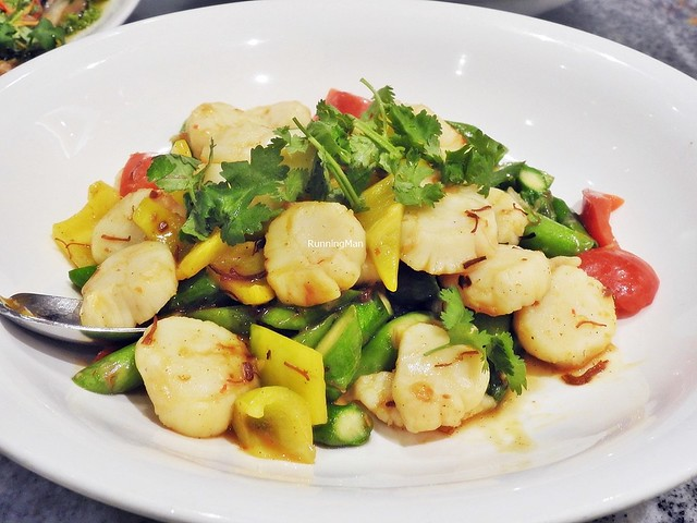 Wok-Fried Asparagus With Pearl Scallop In XO Sauce