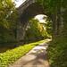 Footpath under Copley Railway Viaduct
