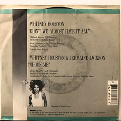 WHITNEY HOUSTON:DIDN'T WE ALMOST HAVE IT ALL(JACKET B)