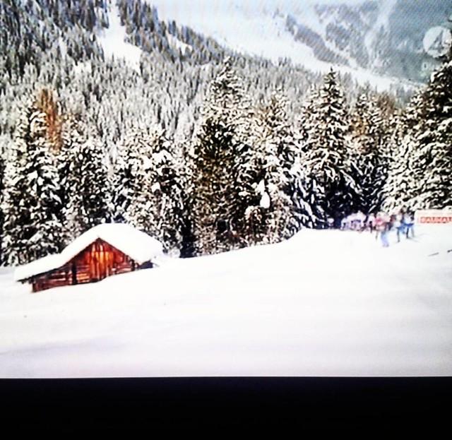 Skidskytte på TV   * * #skidskytte #Italien #snö #snow #världscupen #europe_gallery #vinter #20180120 #anholtz #winter #TV  #ig_europe #antiselva #sportsontv
