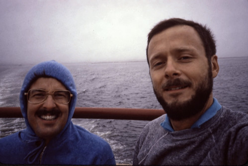 Bob and Ron on the Provincetown II - 1986