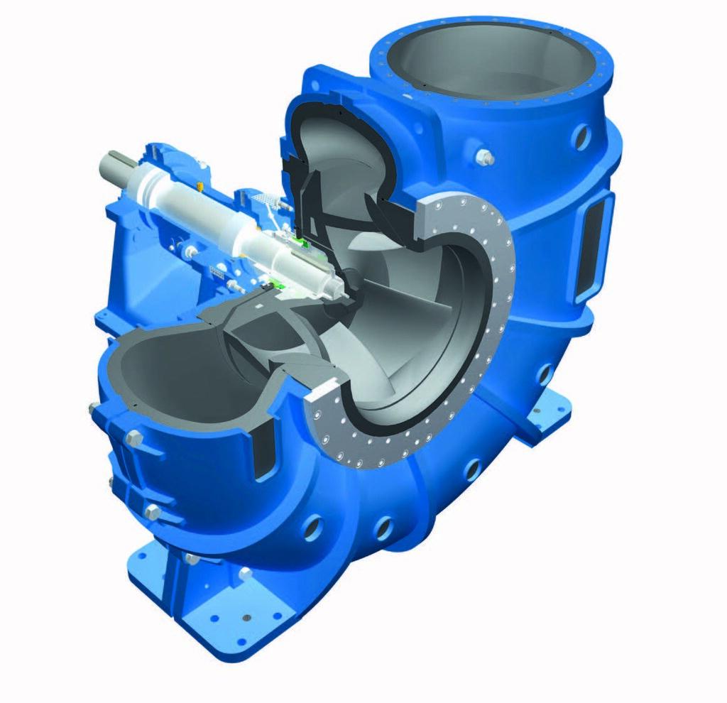 Около 20% потребляемой в мире энергии, расходуется на эксплуатацию насосов. Изображение на рисунке: «Типичный» лопастной насос из номенклатуры компании Düchting.