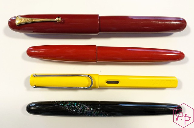 Review @Wancher Red Urushi Ebonite Fountain Pen 3