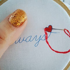I've done the first bit of stitching of the year today 🎉 Hoping to have this little design online this weekend. It'll be free to subscribers of my newsletter 🎈