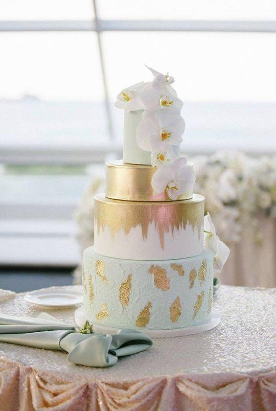 Wedding Cakes : Wedding cake idea; Featured Photographer: Kina Wicks Photography, Featured Cake:...