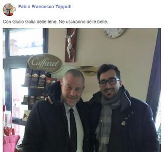 Fabio Topputi con Giulio Golia delle Iene