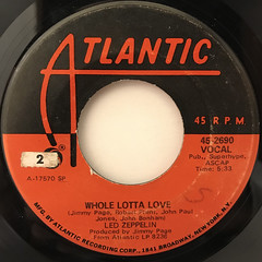 LED ZEPPELIN:WHOLE LOTTA LOVE(LABEL SIDE-A)