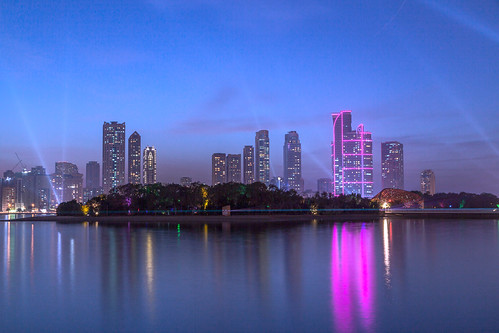 sharjah uae lights water reflections bluehour sunset city cityscape corniche soft art