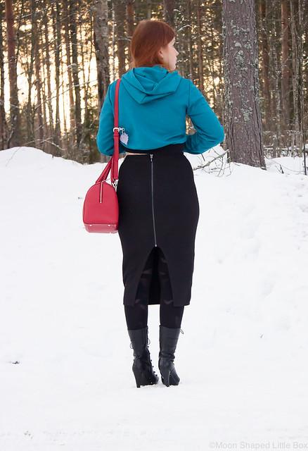Guessin musta neulehame, päivän asu, pukeutuminen, tyylibloggaaja