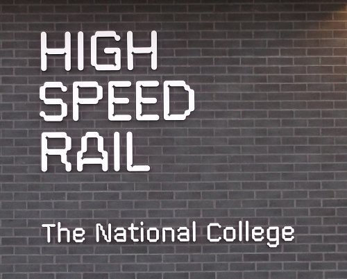 HS2 College - sign