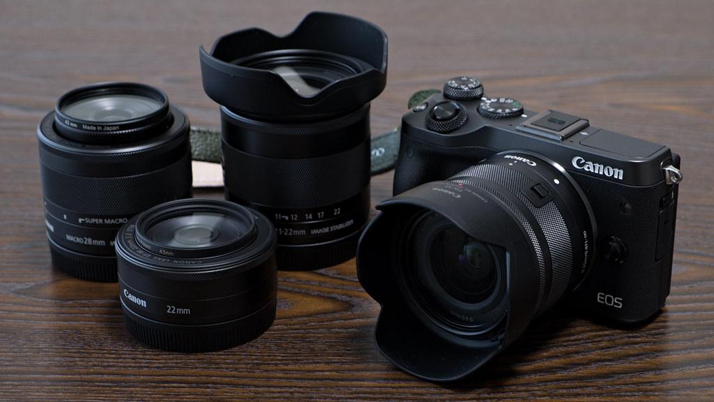 EOS M6 と EF-M レンズ達