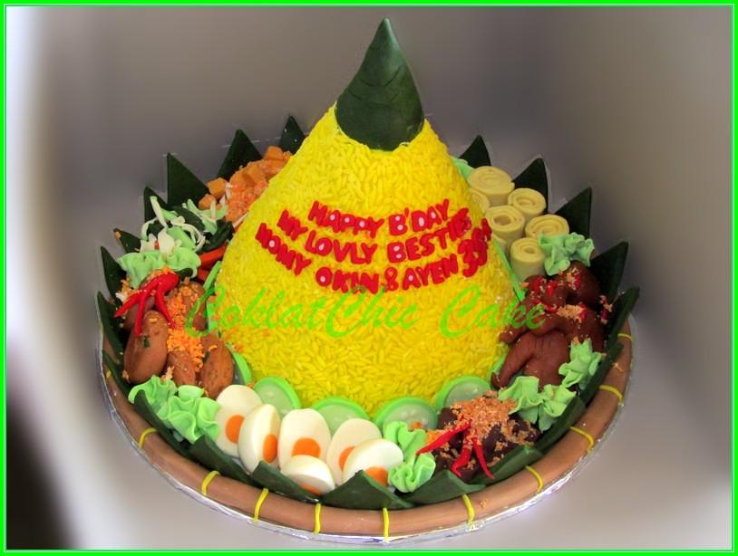 Cake Tumpeng Momy Okin & Ayen 15 cm
