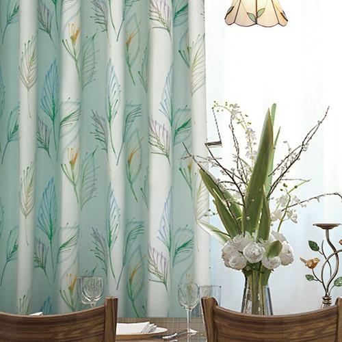 層葉盡染 彩繪葉脈 水彩 防光(遮光)窗簾布 DA1290159