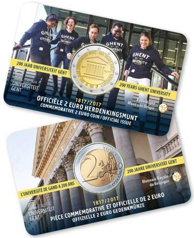 2 Euro Belgicko 2017, Univerzita Gent coincard