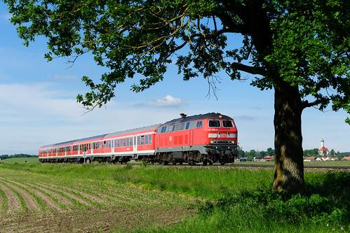 218 488, RE München Hbf - Kaufbeuren, Lindenberg