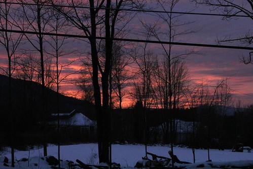 vermont nature winter snow sunrise