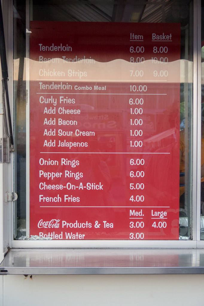 Cheese on a Stick Menu Board at Iowa State Fair