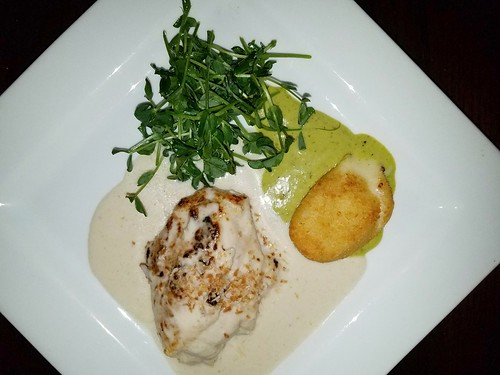 Baked Chicken with Gouda Croquette