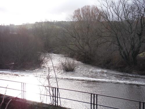 Weir on River Usk